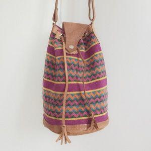 Handbags - Boho Aztec Hippie Crossbody Overzised Bucket Bag